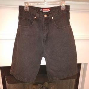 Vintage Brooklyn Xpress black denim shorts